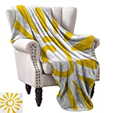 Sun Super Soft Blankets Childish Doodle Style Sun Figure Circle and Rays Burst Beams Nature Hot Summertime Fall Winter Spring Living Room 36' Wx60 L Yellow White