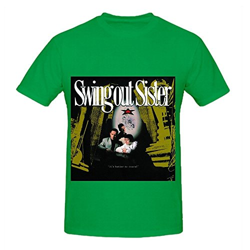 swing-out-sister-its-better-to-travel-hits-men-screen-printed-shirts-green