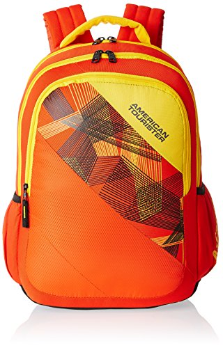 American Tourister Orange Casual Backpack (CLICK 2016)