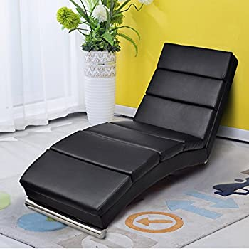 Amazon Modern Bonded Leather chaise Lounge Yoga Chair for