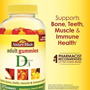 4658727b575 Image Unavailable. Image not available for. Color  Nature Made Vitamin D3  Adult Gummies ...