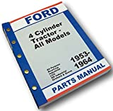 Ford 2000 4000 Tractor Master Parts Manual Catalog 1962 1963 1964 1965 All Types