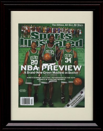 Framed Kevin Garnett Sports Illustrated Autograph Replica Print - 2008 Boston Celtics Big 3