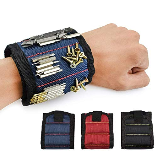 Magnetic Wristbands, With 10 Powerful Magnets magnet wristbands for Holding Tools, Screws, Nails,Bolts, Drill Bits and Small tools, nails and screws pouch -Best Tool Gift for DIY Handyman