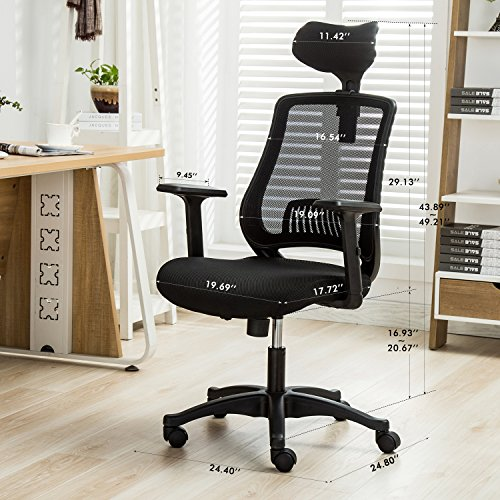 top 10 best ergonomic desk chair adjustable arms best of 2018
