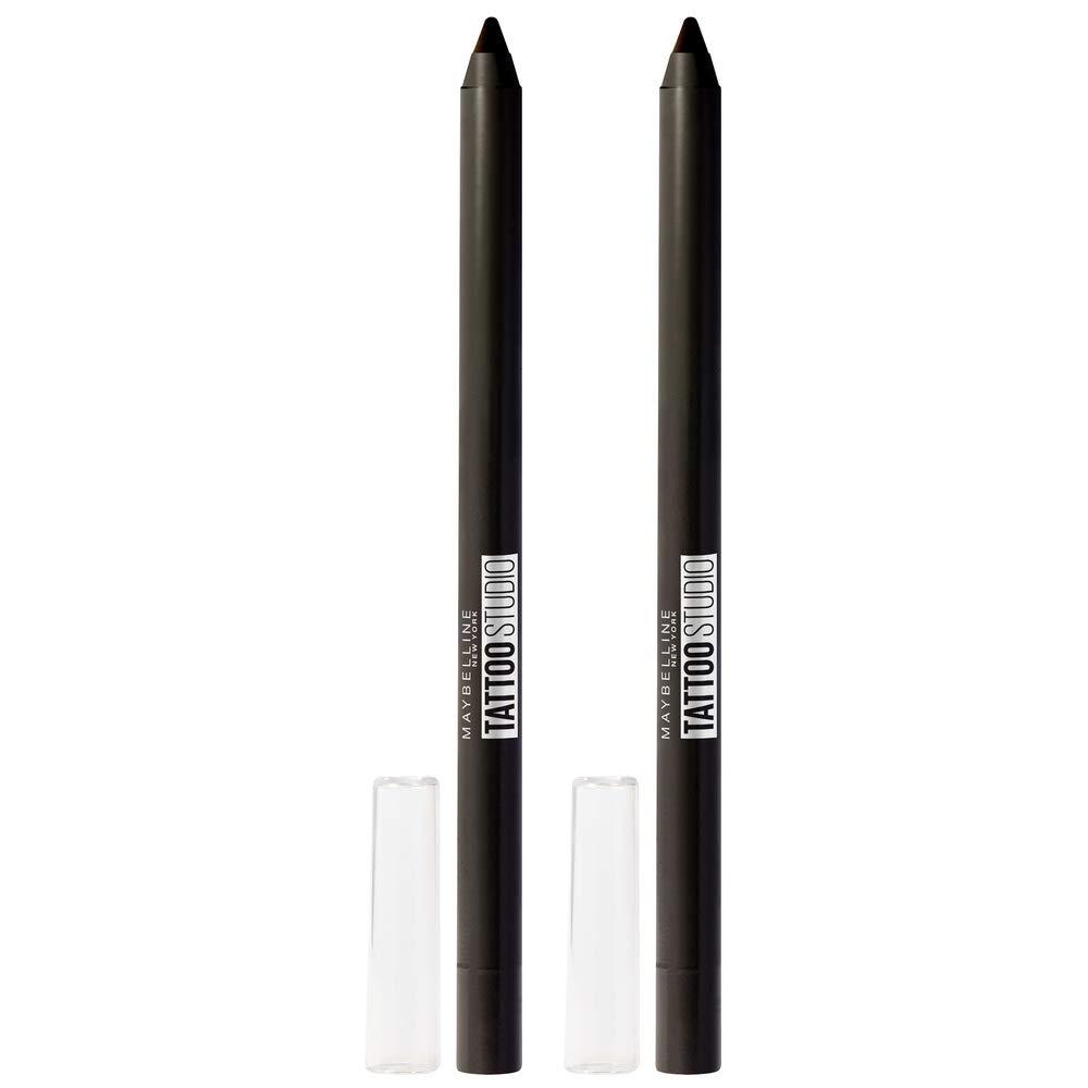 Maybelline New York Tattoostudio Waterproof, Long Wearing, Eyeliner Pencil Makeup, Deep Oynx, 2 Count