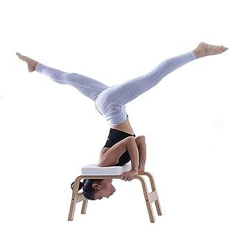 XH-Fitness Silla de Yoga de Madera Soporte para la Cabeza ...