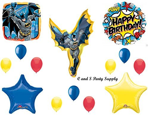 BATMAN COMIC ROBIN Balloons Birthday party Decoration Supplies Pow Gotham Cape by Anagram -
