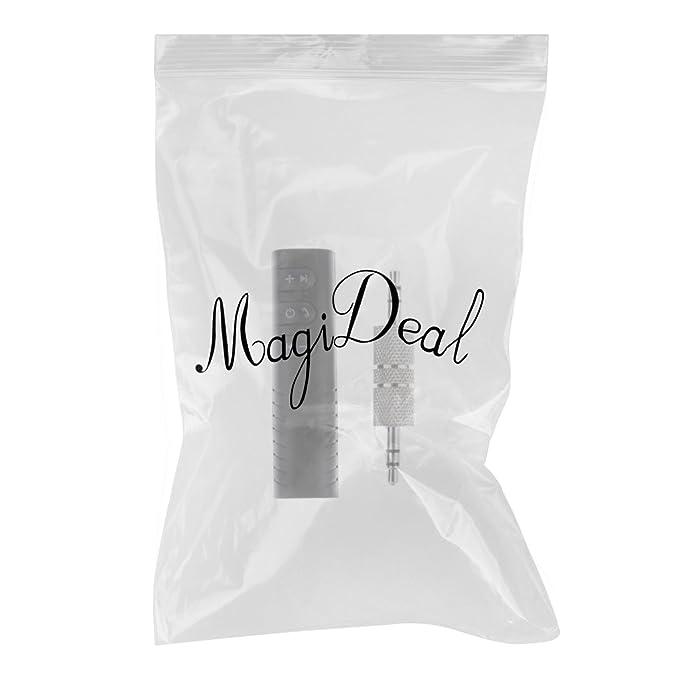 MagiDeal Adaptador de Bluetooth Inal/ámbrico 3.5mm Adaptador de Audio para Hogar de M/úsica Bt2 Blanco