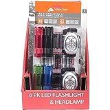 Ozark Trail 6 LED Flashlight and 8 LED Headlamp Combo 18 AAA Batteries