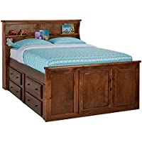 Catalina Chestnut Full Bookcase Bed
