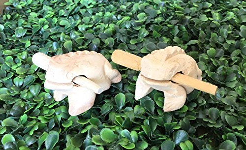 2x Deluxe Small 2'' Wood Frog Guiro Rasp - Musical Instrument Tone Natural Wood Color World Percussion.