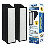 VEVA Premium True HEPA Replacement Filter 2 Pack Including 6...