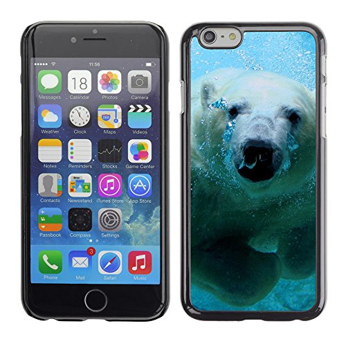 Premio Sottile Slim Cassa Custodia Case Cover Shell // V00003723 natation ours polaire // Apple iPhone 6 6S 6G 4.7""