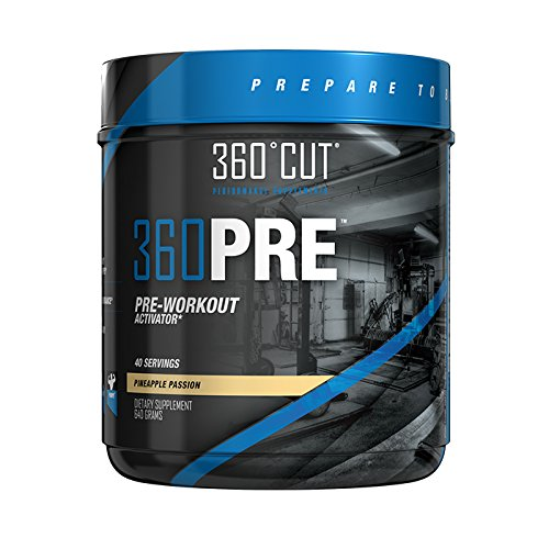 360PRE Energy Powder Fat Burner & Pre Workout Energy Supplement, Great Taste & No Side Effects! 40 Servings, Gain Muscle Fast, Lose Fat Gain Muscle For Men Or Women, Weight Lifting Supplements, 360CUT