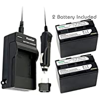 Kastar Battery (2-Pack) + Charger for Canon BP-945, BP-950, BP-970, C2, FV1, FV500, Optura, Ultura, Vistura, DM-XL2, DM-MV20, E65AS, ES-8600, G2000, GL2, MV200i, UC-V300, V75Hi, XH-G1, XL-H1, XM2, XV3