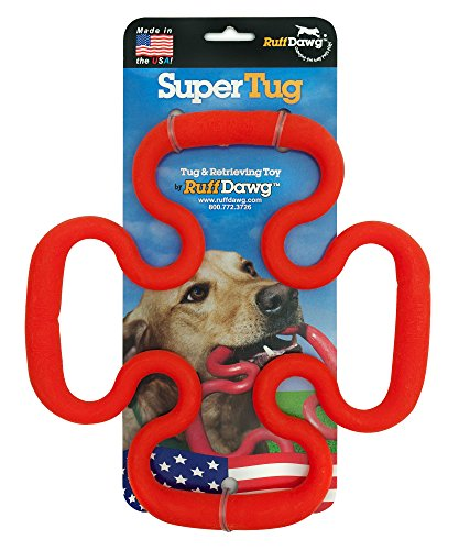 Ruff Dawg Super Tug Rubber Dog Toy Assorted Colors (Rubber Tug)