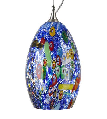 LBL LF935BUSC2D100, Monty Mini Murano Glass Round Pendant, 1 Light, 75 Total - Mini Light Monty 1