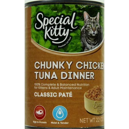a85dedab2 22 Oz (Pack of 24), Special Kitty Classic Pate Chunky Chicken & Tuna ...