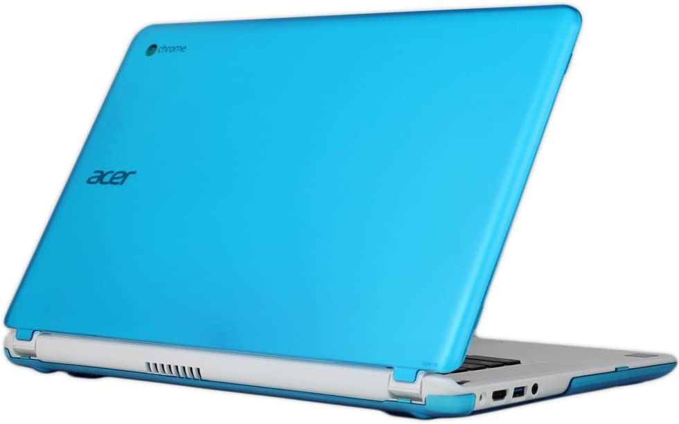 "iPearl mCover Hard Shell Case for 15.6"" Acer Chromebook 15 C910 / CB5-571 / CB3-531 / CB3-532 Series Laptop (Aqua)"