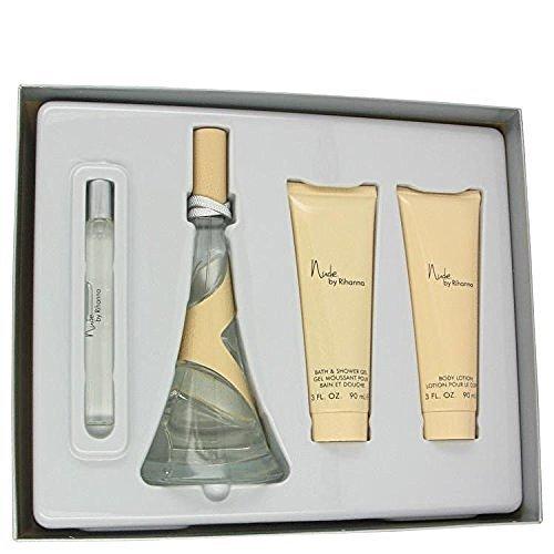 Gift Set -- 3.4 oz Eau De Parfum Spray + 3 oz Body Lotion + 3 oz Shower Gel + .33 oz Mini EDP Spray