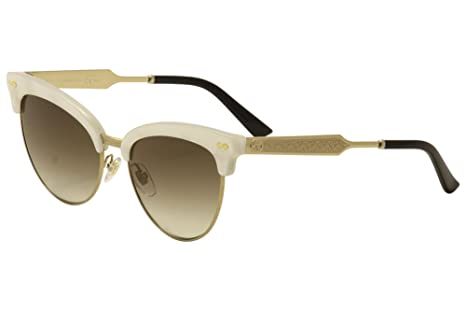 d9ec5711b2b Gucci Women s GG 4283 S Mother-of-Pearl Gold Brown Gradient  Amazon ...