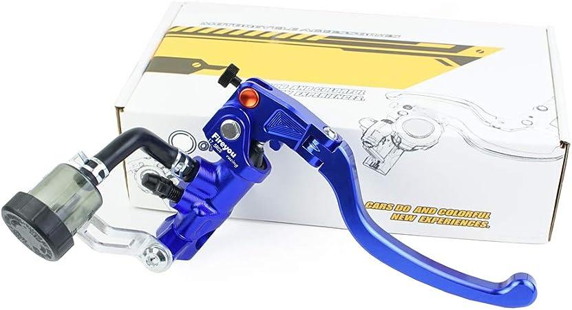 Cnc Hydraulische Bremse Motorrad Verstellbares Klappbares Rennrad Rcs 17 5 Hauptbremszylinder Hebel 7 8 Zoll 22 Mm Für 150 To 600cc Blau Rechts Auto