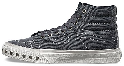 30%OFF Vans Overwashed Sk8-Hi Slim Men Round Toe Canvas Blue Sneakers