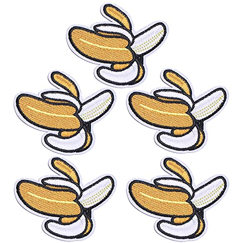 TACVEL Banana Embroidered DIY Sew on / Iron on Patches for Kids Clothing, Vest, Jackets, Backpacks, Caps, Jeans to Repair Holes / Logo