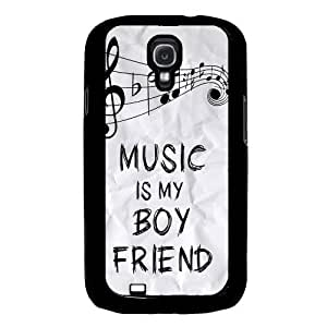 Cool Painting Music Is My Boyfriend Hipster Quote Samsung Galaxy S4 I9500 Case Fits Samsung Galaxy S4 I9500
