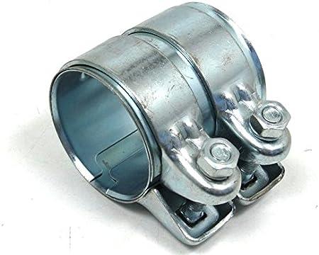 Montage//Cement Paste 80g R.423 2x Rohrverbinder 265-129 46 mm x 95 mm mit Doppelschelle f/ür die Abgasanlage inkl voll verzinkt