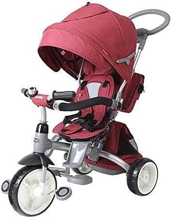 Dreirad Kinderfahrzeug Kinderfahrad Fahrrad Liegefunktion 6in1 Drehbares Sitz