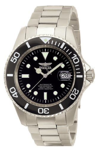 Invicta Men's 0420 Pro Diver Automatic Black Dial Titanium - Edge Coin Invicta Diver