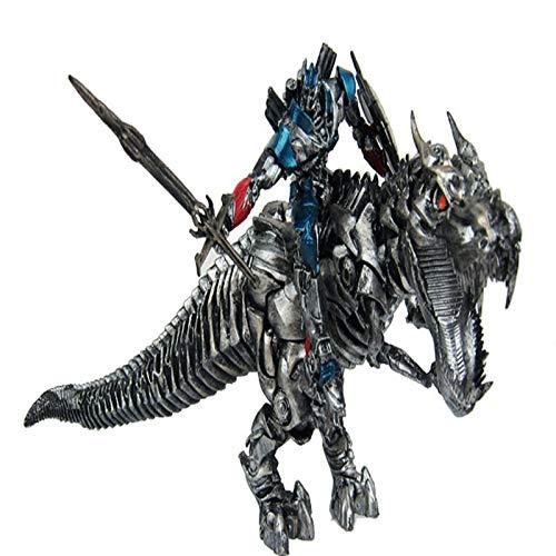 Qivor Jurassic Dinosaurier Verwandlung Spielzeug Transformers Optimus Prime Tyrannosaurus Dinosaurier Modell Statue Erwachsene Kinderspielzeug Dekoration Spiel Cartoon Charakter Mod