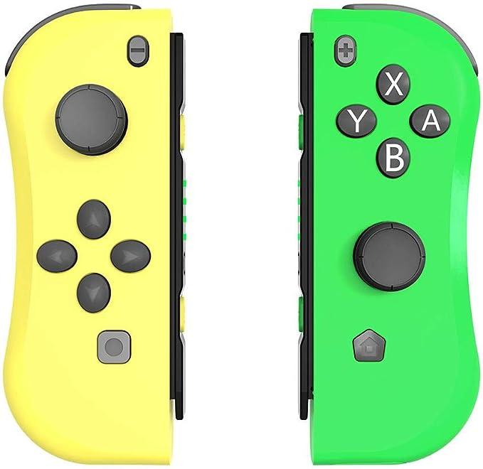 Mando para Nintendo Switch inalámbrico de Juego Joy-con, Controladores inalámbricos Bluetooth con Funciones de vibración y detección | 22 Botones y 2 mandos de Juego de Alta precisión 3D: Amazon.es: Hogar