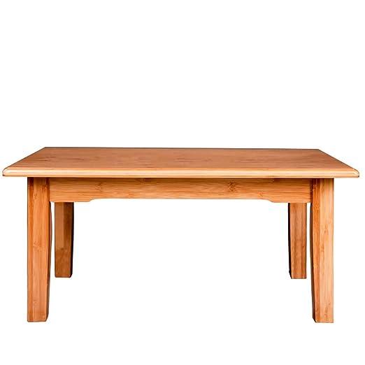 Mesa de centro pequeña mesa de centro de bambú de mesa baja ...