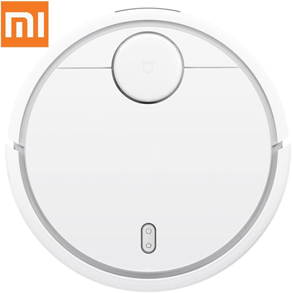 Xiaomi Mi Smart Automated Robot Vacuum Cleaner 1st Generation - Robotic Self-Charging, 5200mAh, 1800Pa Suction, App Control, Path Planning Vaccum Sweeper Easy for Hard Floor and Carpet