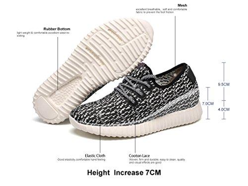 "CHAMARIPA-Hombres de altura ligera Aumento de los entrenadores Ascensor Zapatos-Taller 7cm / 2.76 ""-H61C22K013D"