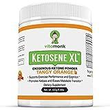 Ketosene XL™ 30 Servings Extra Large Exogenous Ketones Powder - Kickstart Ketosis Within 1-Hour with a Pure Blend of Calcium and Magnesium Ketone BHB Salts (KetoVantage® BHB) - Perfect Keto Diet Bulk