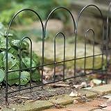 BestNest Set of 24 Panacea Lightweight Arched Border Fences, 14'' H