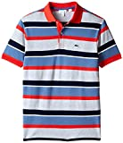 Lacoste Little Boys' Short Sleeve Multi-Stripe Polo Shirt