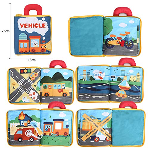 beiens My Quite Books 9 Theme, Soft Cloth Books with Mirror Fun Interactive Activity Baby Sensory Books, Education Busy Books Toys for Infant, Toddler, First Year Gift for Baby Birthday