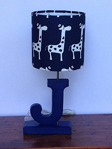 Navy Blue with White Giraffes Lamp Shade