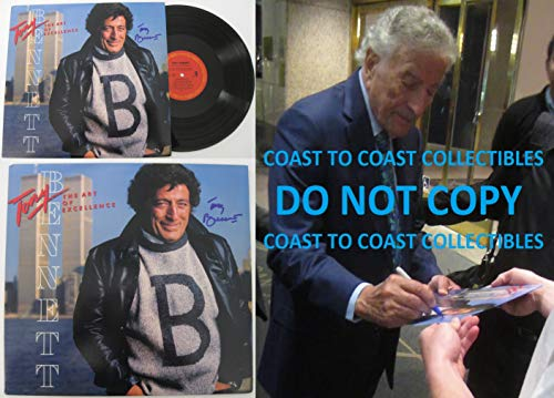 Tony Bennett signed, autographed, The Art of Excellence Album, Vinyl Record, COA with the Proof Photo will be included. STAR