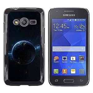 TopCaseStore / la caja del caucho duro de la cubierta de protección de la piel - Dark Planet Space - Samsung Galaxy Ace 4 G313 SM-G313F
