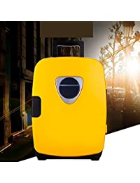 SL&BX Mini fridge,Car refrigerator dual small home insulin cooler mini compact refrigerator portable and freezer for home,Office,Car or boat-yellow 29x41x43cm(11x16x17inch)
