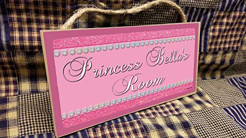 CELYCASY Personalized Your Name Glitter Princess Pink Kids Room 5