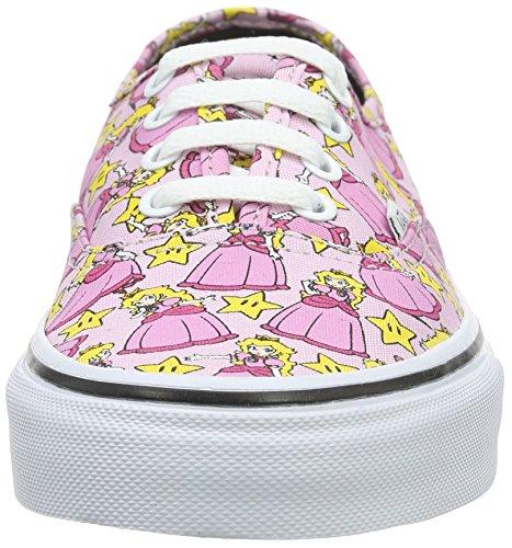 Vans Womens Authentic Nintendo Ankle-High Canvas Skateboarding Shoe Princess Peach PomhqFYWe6