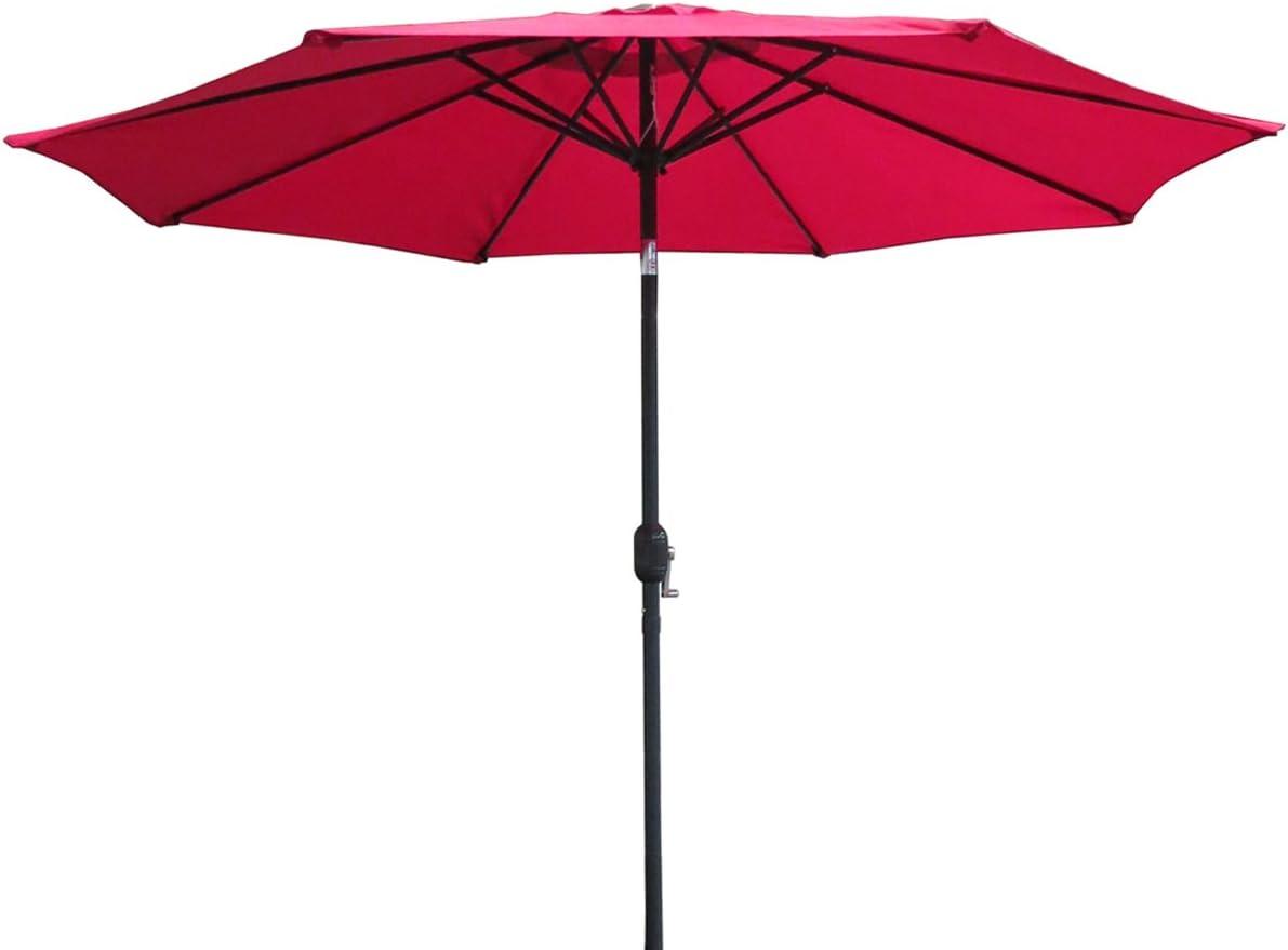 VMI M-02032-A 9 Ft Aluminum Umbrella, Red