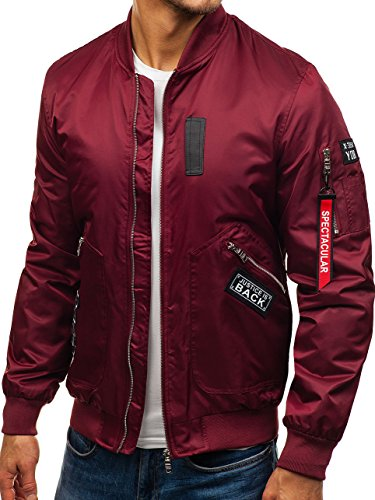 Mix BOLF Basic Bomber Transitional Claret Sport 5106 Jacket 4D4 Men's Zip HnFOqH0